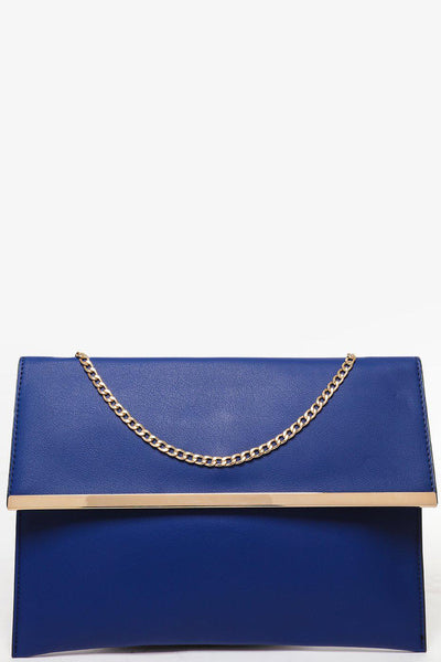 Gold Frame Navy Clutch