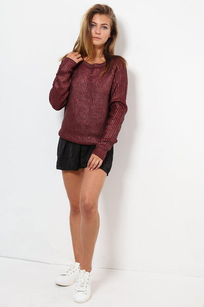 Waxed Finish Maroon Jumper-SinglePrice
