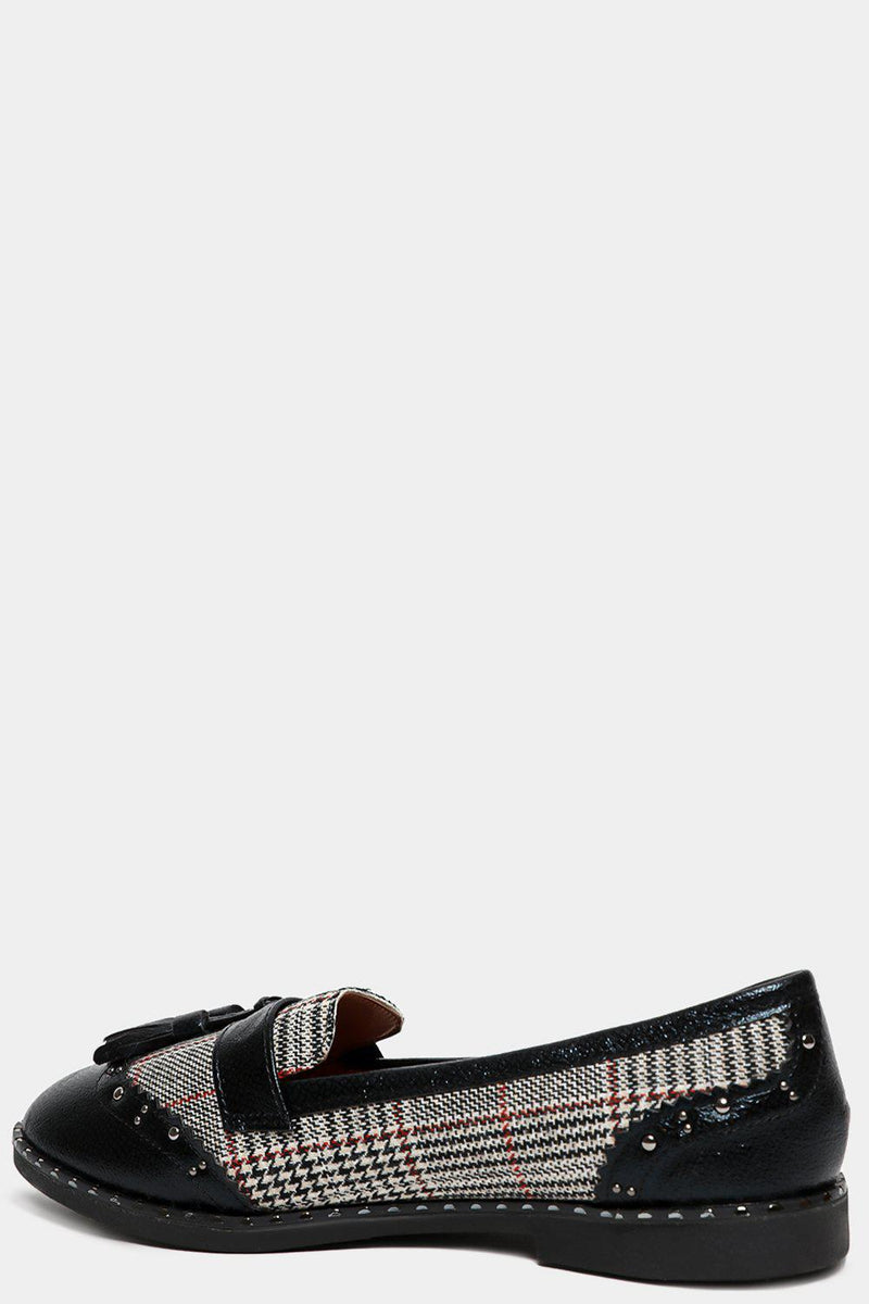 Black Prince Of Wales Loafers - SinglePrice