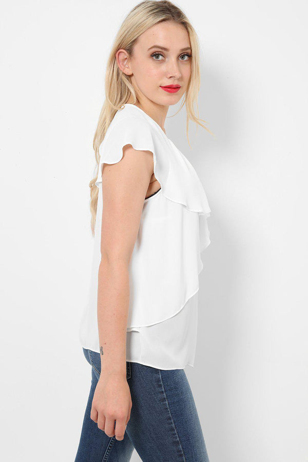 Layers Of Falls White Top-SinglePrice