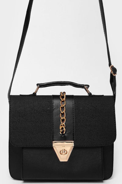 Chain Flap Black Handbag-SinglePrice
