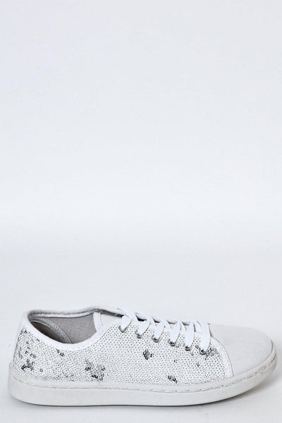 White Magic Sequins Trainers