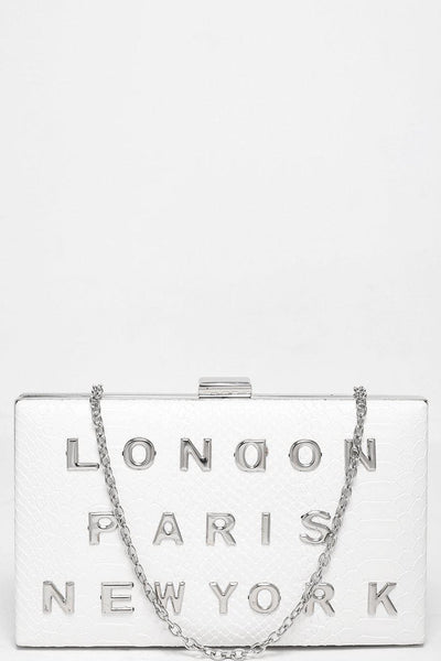 Fashion Capitals White Small Box Handbag