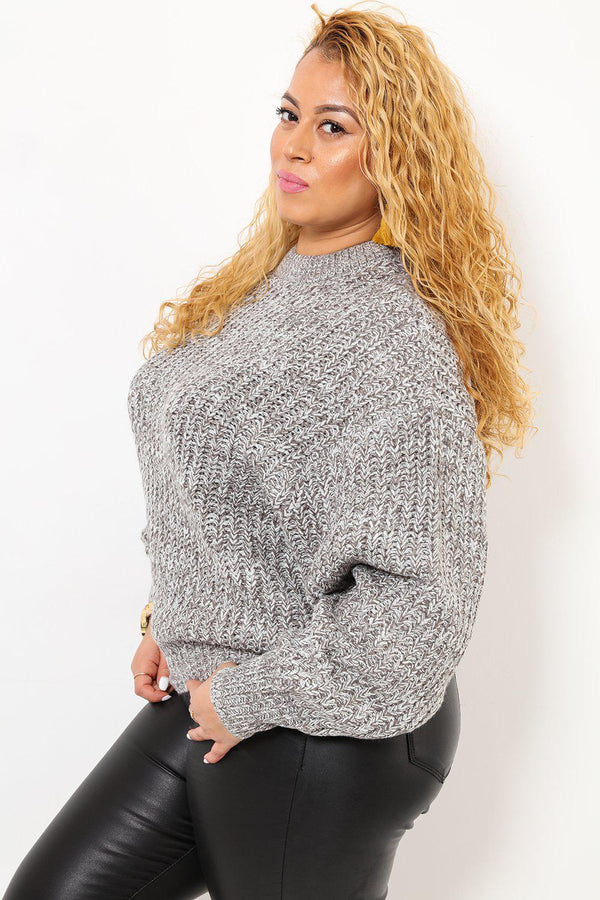 Thick Knit Princess Sleeve Cream Jumper-SinglePrice