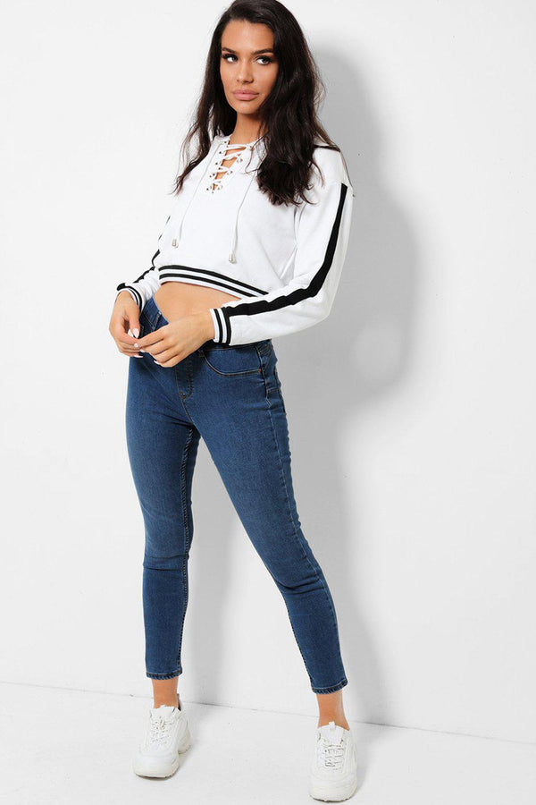 Navy Superskinny Fit Cropped Denim Jeans - SinglePrice