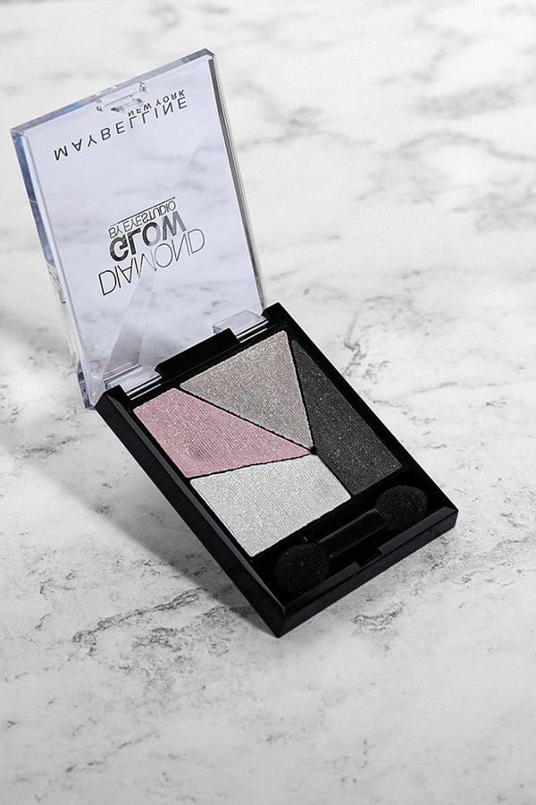 Maybelline Diamond Glow Eyeshadows Grey Pink Drama 04-SinglePrice