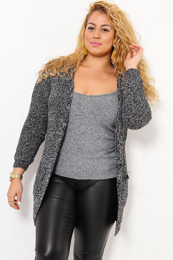 Hooded Grey Cardie With Pockets-SinglePrice
