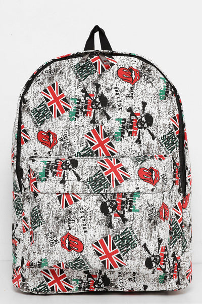 Red Details Rock'n'Roll Backpack-SinglePrice