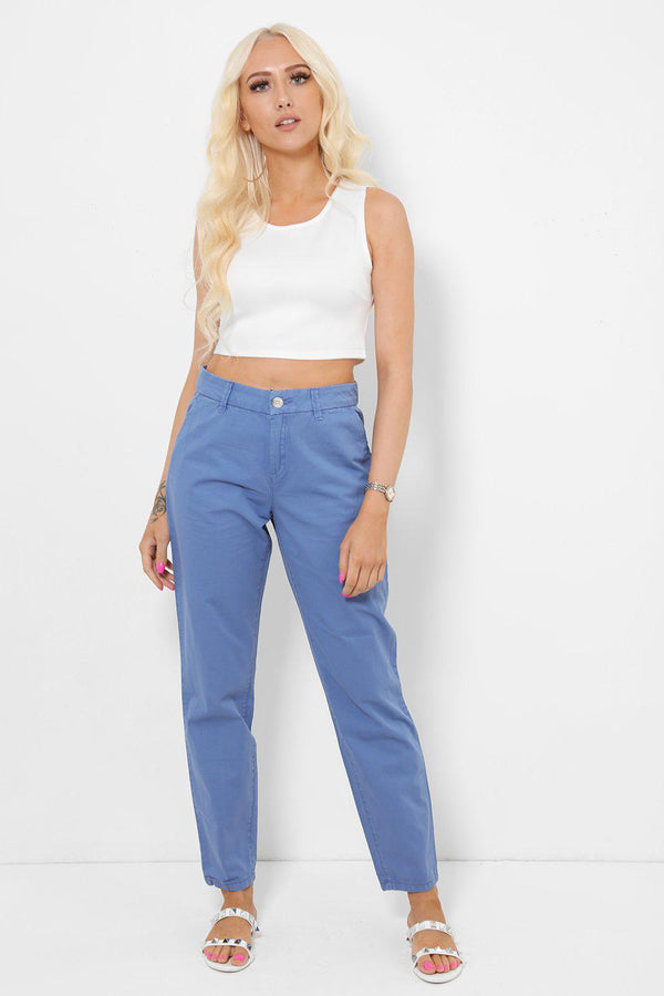 Dark Blue Smart Slack Trousers - SinglePrice