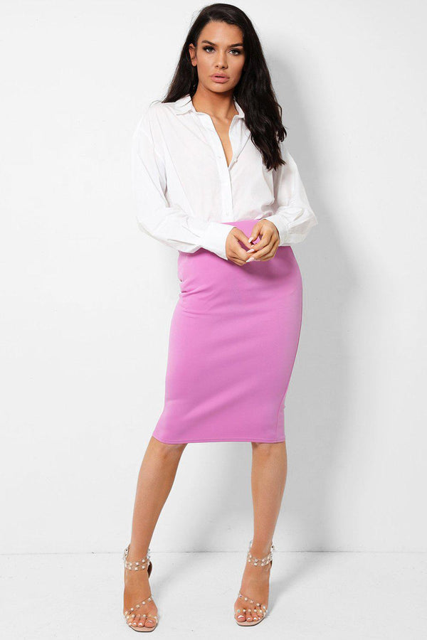 Lilac Classic Pencil Skirt - SinglePrice
