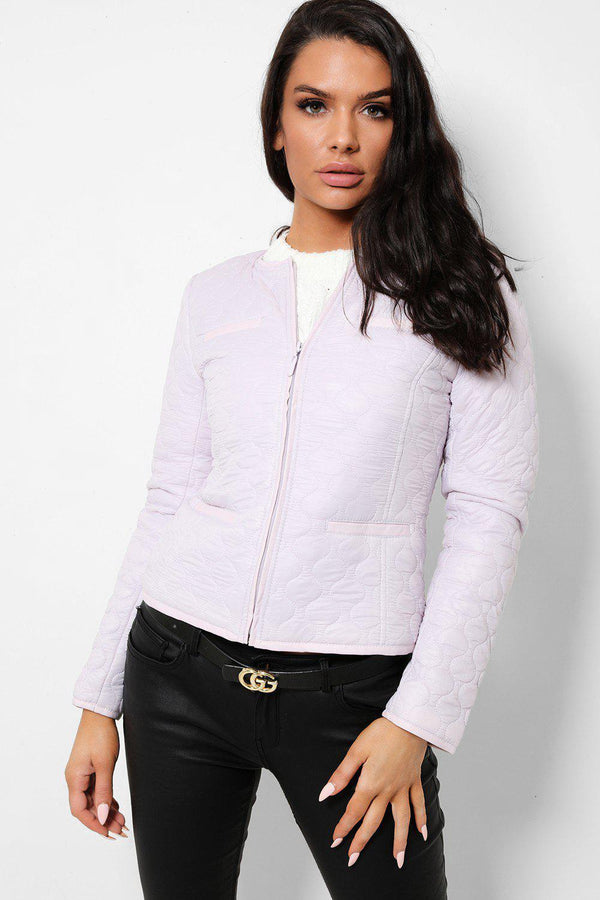 Lilac Quilted Lightweight Jacket - SinglePrice