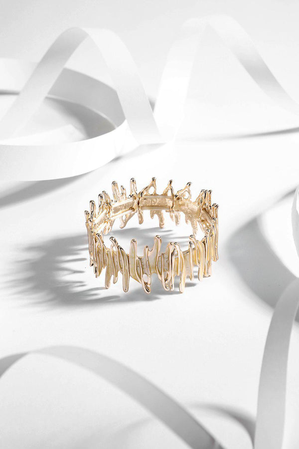 Gold Spiky Stretch Bracelet-SinglePrice