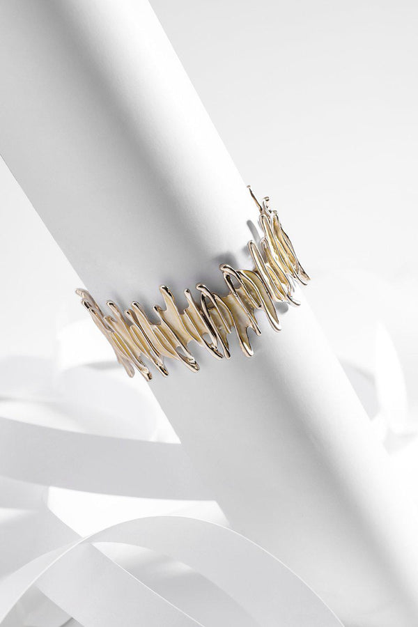 Gold Spiky Stretch Bracelet - SinglePrice