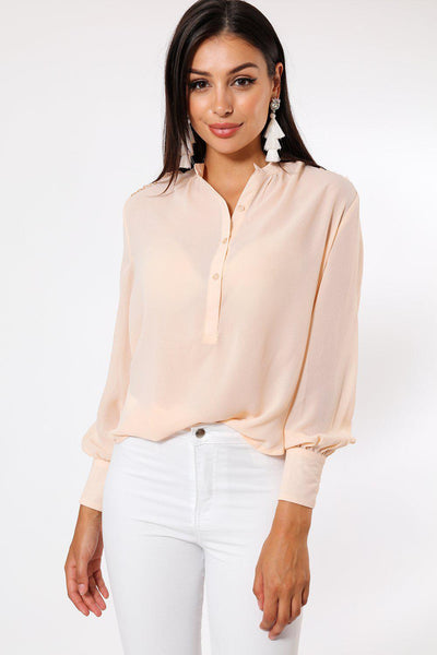 Lace Shoulders Blouse-SinglePrice