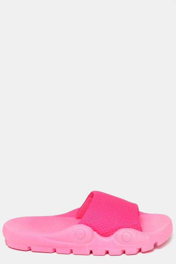 Highlighter Pink Lightweight Sporty Sliders-SinglePrice
