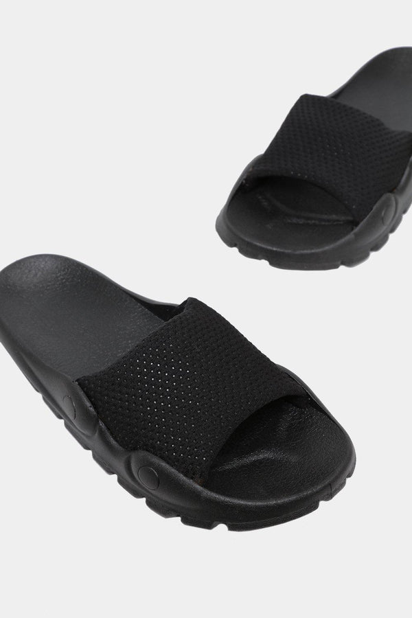 Black Lightweight Sporty Sliders-SinglePrice