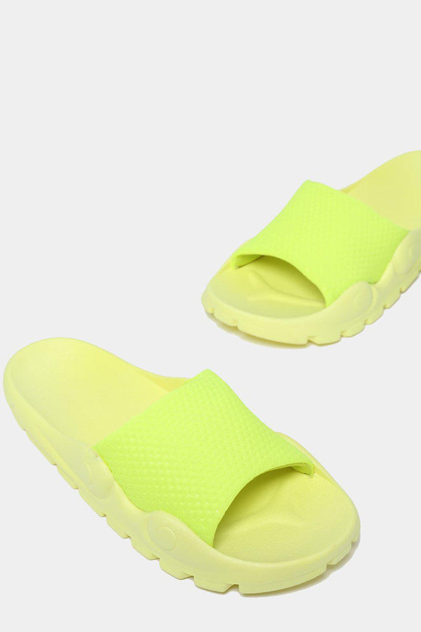 Highlighter Yellow Lightweight Sporty Sliders-SinglePrice