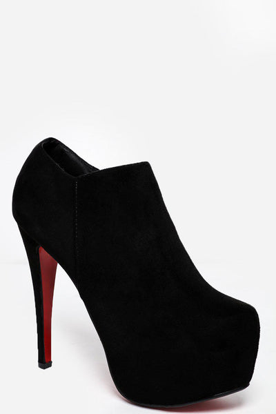 Black Classic Platform Ankle Boots-SinglePrice
