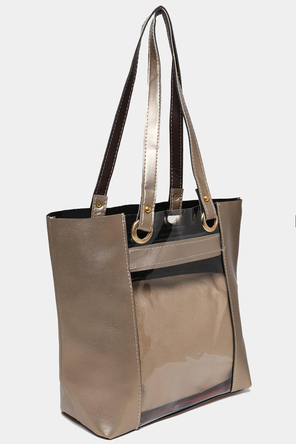 Gold Large Perspex Tote Bag-SinglePrice