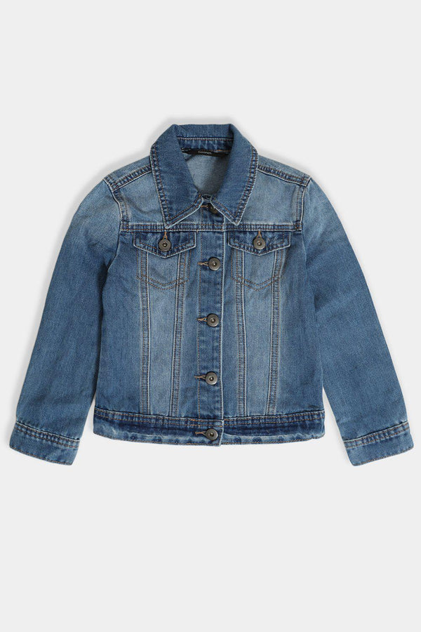 Blue Denim Classic Girls Jacket - SinglePrice
