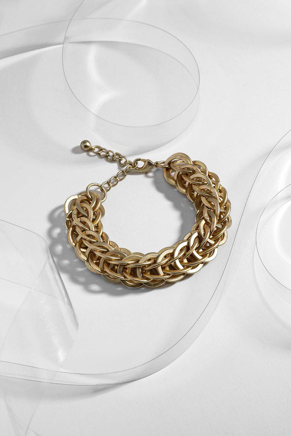 Gold Large Multi Chain Links Bracelet-SinglePrice