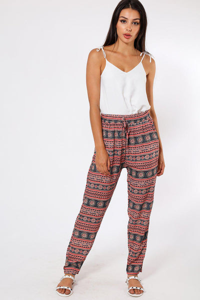 Dark Oink Vertical Stripes Leisure Trousers-SinglePrice