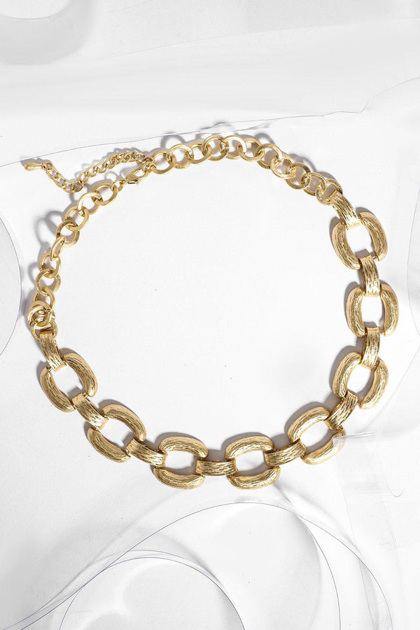 Gold Large Chain Links Choker-SinglePrice