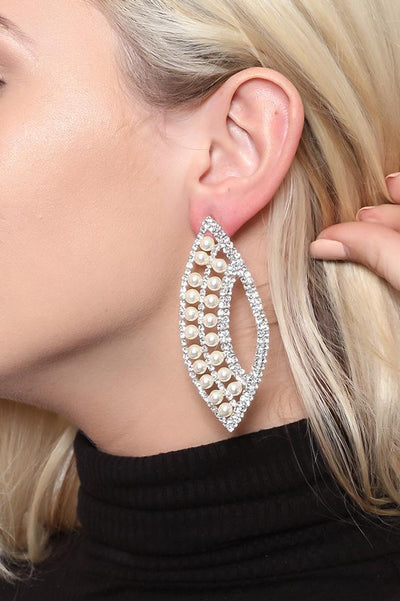 Pearly Fan Earrings-SinglePrice