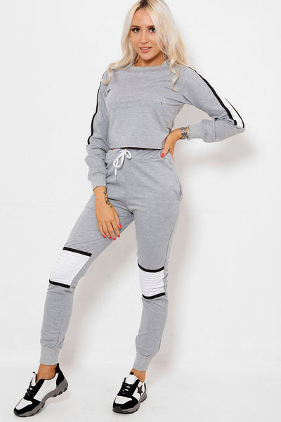 White Panels Grey 2 Piece Tracksuit-SinglePrice