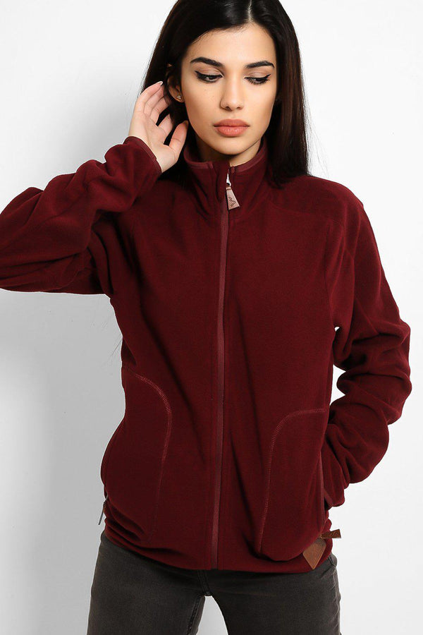 Burgundy Micro Fleece Full Zip Jacket