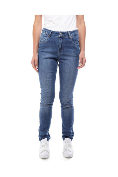 Blue Denim Skinny Leg Jeans