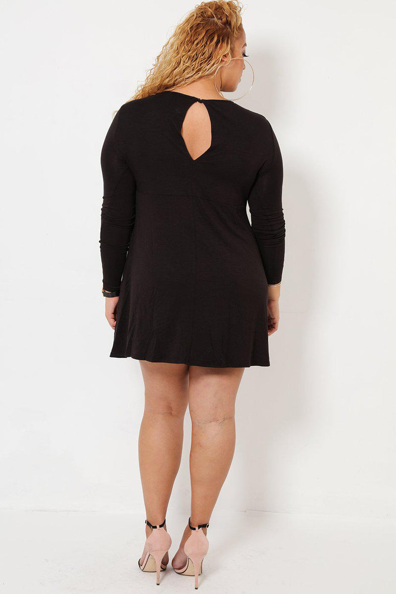 Long Sleeves Black Dress - SinglePrice