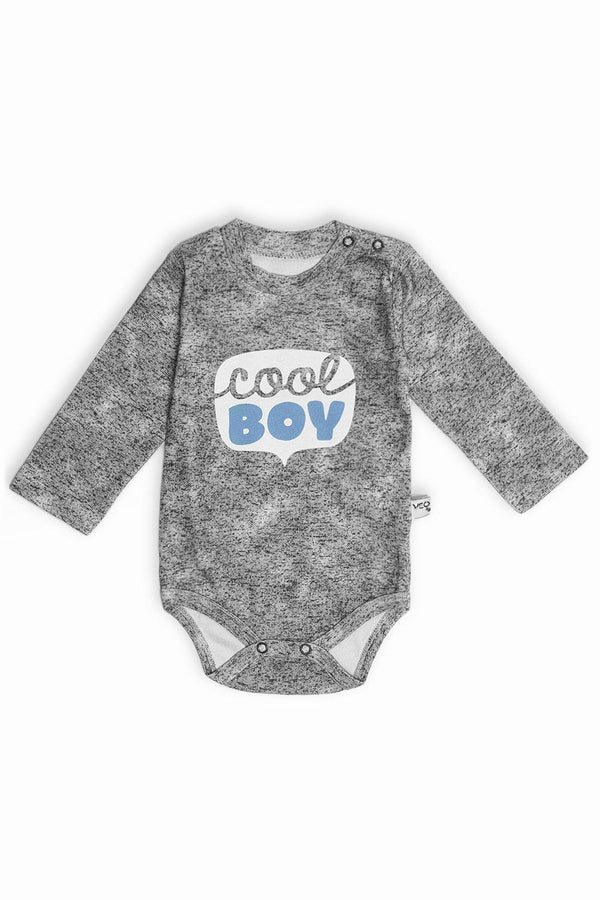 Grey Cool Boy Print Baby Body-SinglePrice