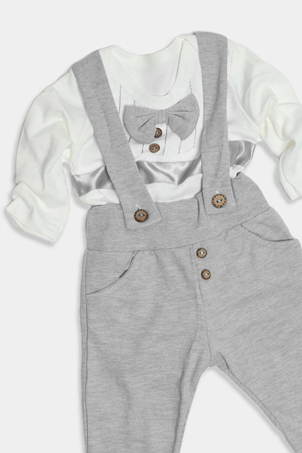 Grey Dapper Baby Boy Set