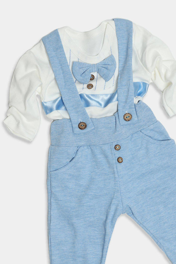Dark Blue Dapper Baby Boy Set