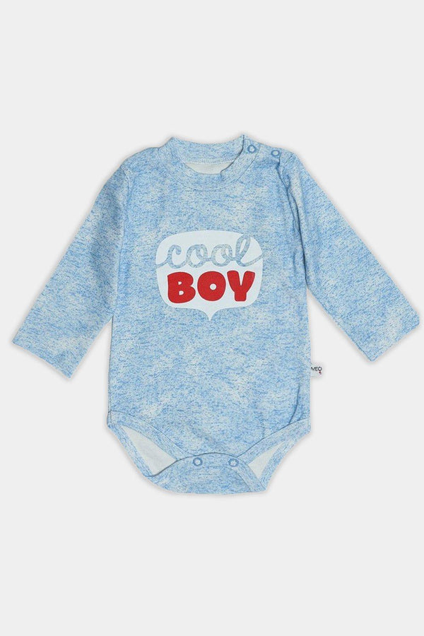 Blue Cool Boy Print Baby Body