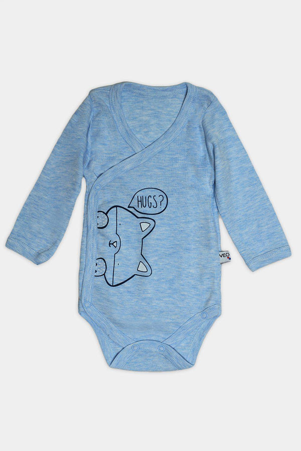 Dark Blue Kitty Hugs Print Baby Body