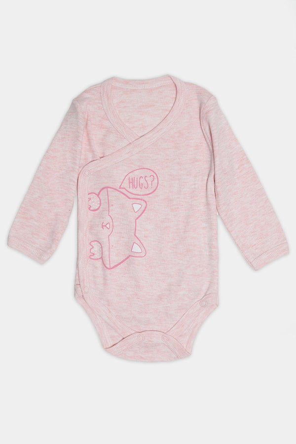 Pink Kitty Hugs Print Baby Body