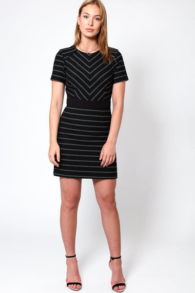 Structured Black Bodycon Dress-SinglePrice