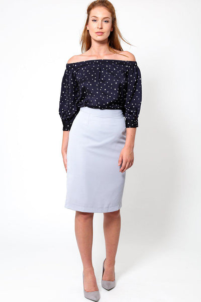 Grey Classic Pencil skirt-SinglePrice