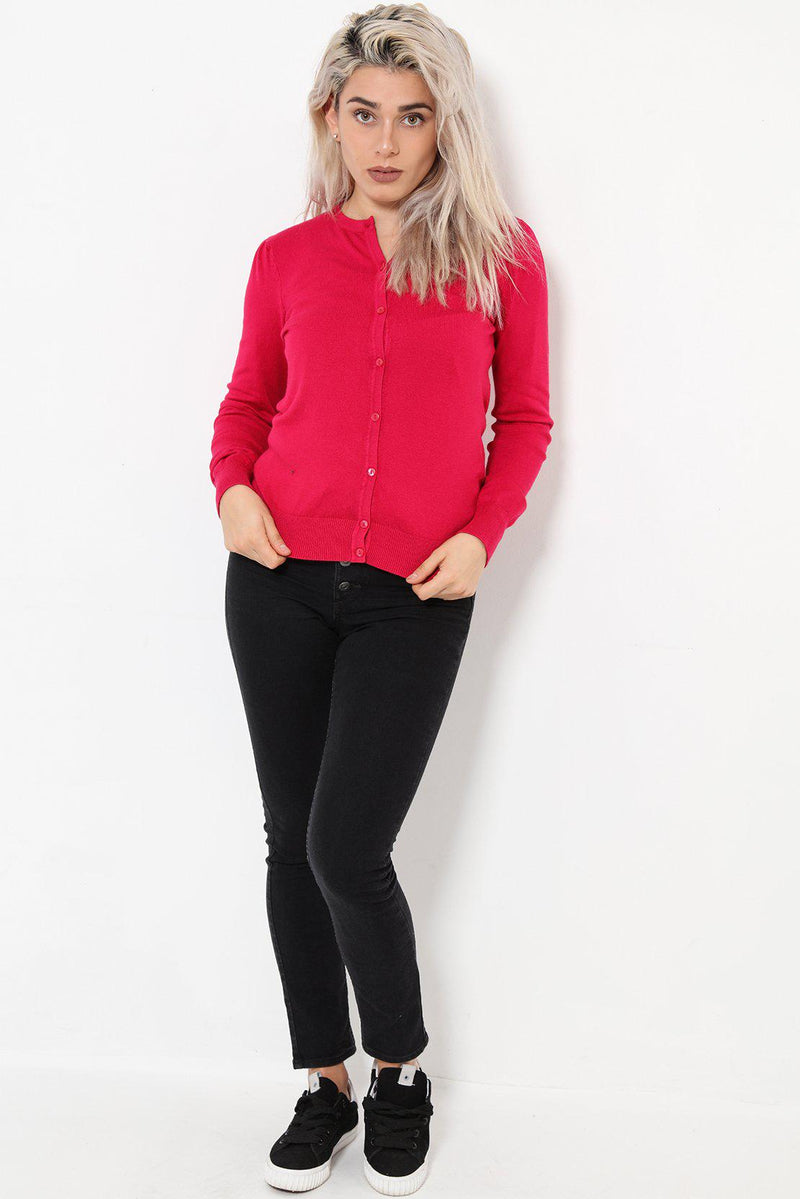Small Puff Shoulder Classic Rose Cardigan - SinglePrice