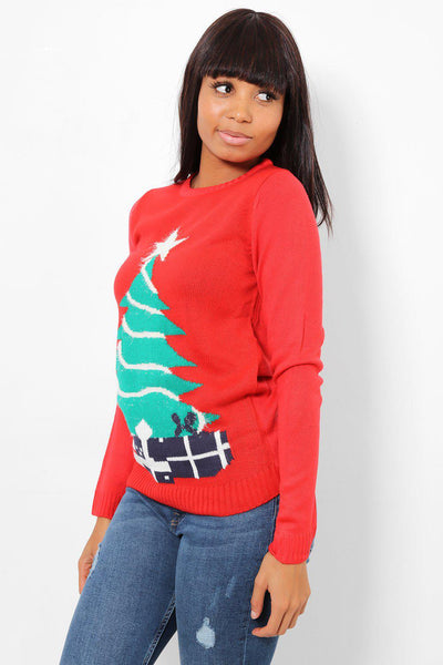 Christmas Tree Red Jumper-SinglePrice