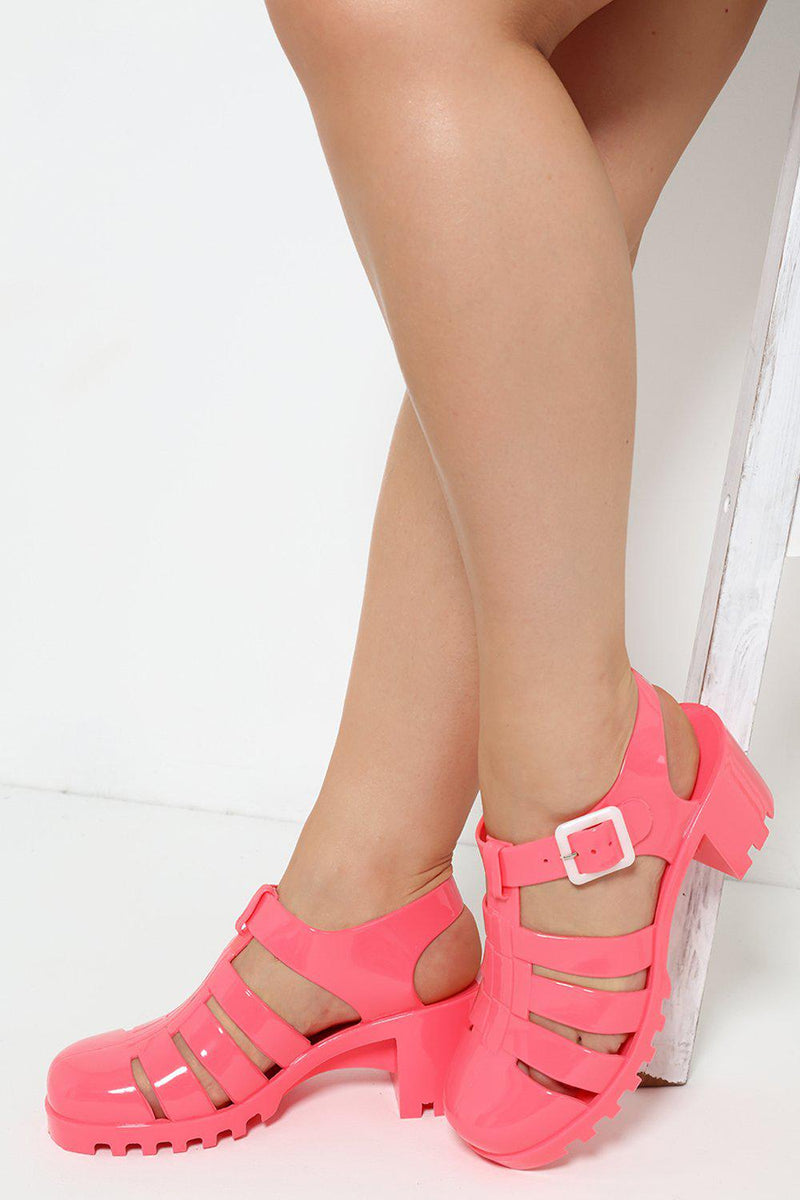 Red Cage Jelly Sandals - SinglePrice