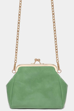 Green Coin Purse Design Vegan Leather Crossbody Bag - SinglePrice