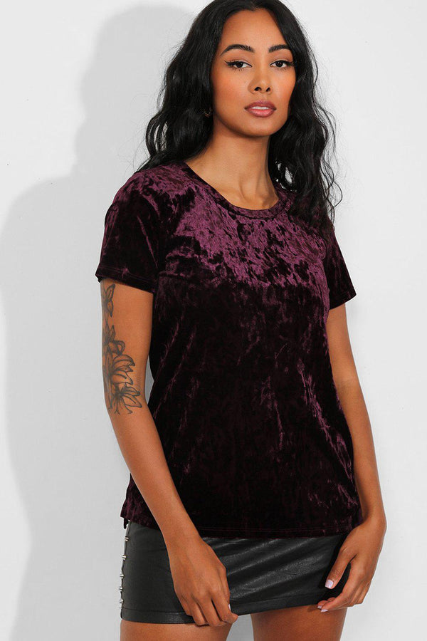 Purple Crushed Velvet Top - SinglePrice