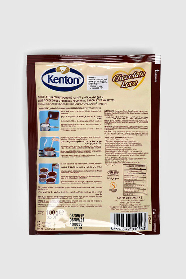 Kenton Chocolate Hazelnut Pudding 100g - SinglePrice