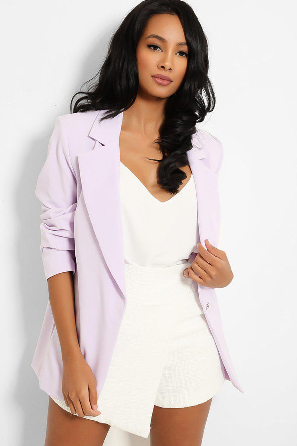 Lilac Single Button Blazer-SinglePrice