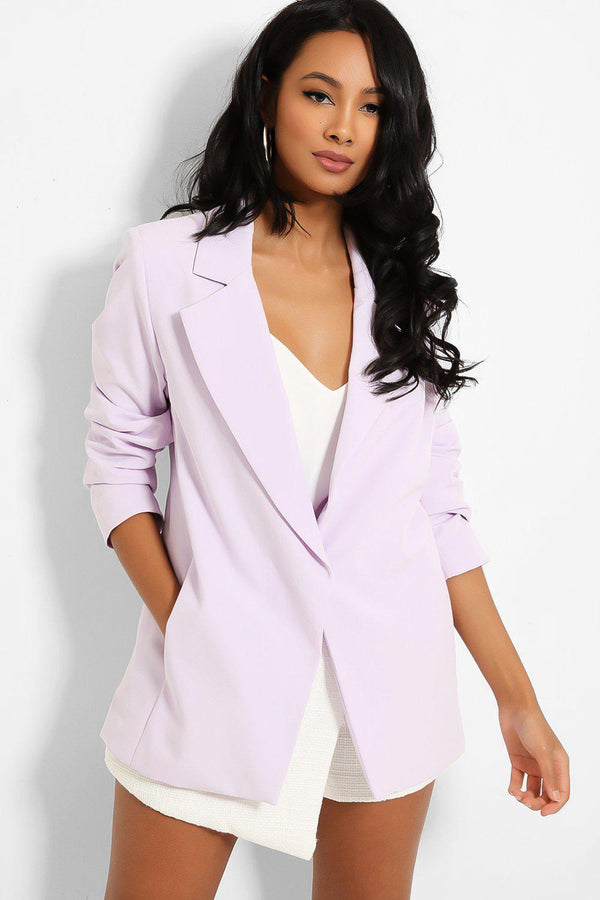 Lilac Single Button Blazer