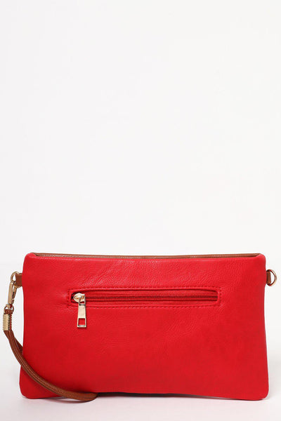 Red Sporty Tape Stripe Mini Bag