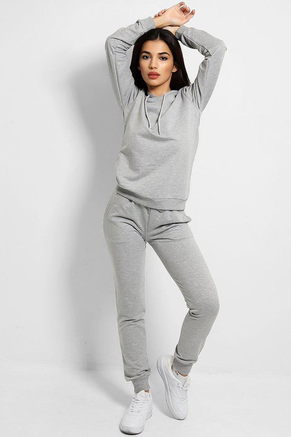 Grey Fashion Stole My Soul Slogan Back Tracksuit